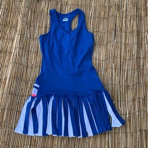 FILA TENNIS DRESS BLUE/WHT/PINK  NWOT SZ S
